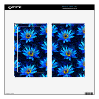 van gogh water lily blue decal for kindle fire