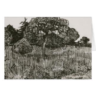 Van Gogh Weeping Tree on a Lawn Card