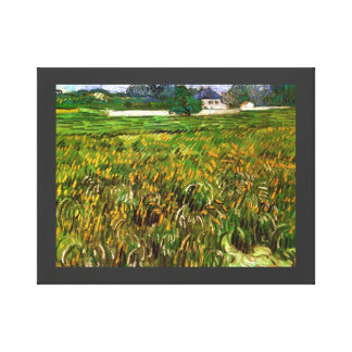 Van Gogh Wheat Field at Auvers with White House Canvas Print