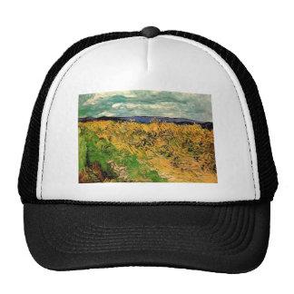 Van Gogh Wheat Field Cornflowers, Vintage Farm Art Trucker Hat