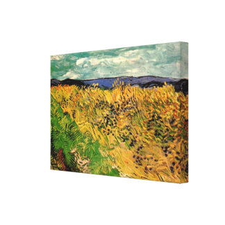 Van Gogh Wheat Field Cornflowers, Vintage Fine Art Canvas Print