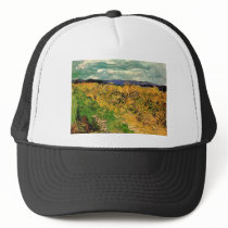 Van Gogh Wheat Field Cornflowers, Vintage Fine Art Trucker Hat