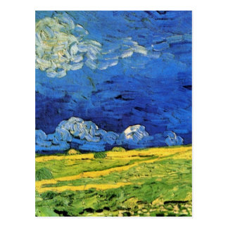 Van Gogh Wheat Field Under a Clouded Sky Postcard