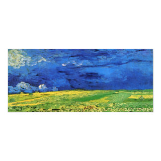Van Gogh; Wheat Field Under Clouded Sky Custom Invites