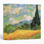 Van Gogh Wheat Field w Cypresses at Haute Galline Vinyl Binder
