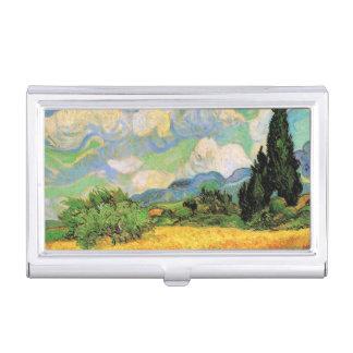 Van Gogh Wheat Field w Cypresses at Haute Galline Business Card Case