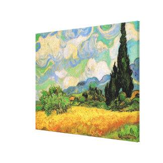 Van Gogh Wheat Field w Cypresses at Haute Galline Canvas Print