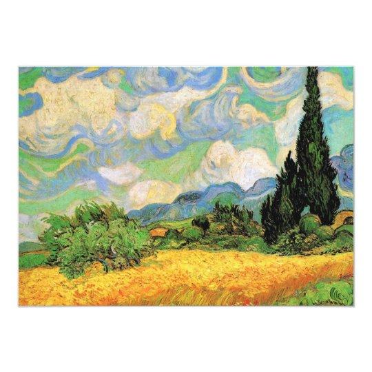 Van Gogh Wheat Field w Cypresses at Haute Galline Card