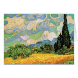 Van Gogh Wheat Field w Cypresses at Haute Galline Greeting Cards