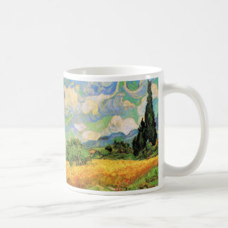 Van Gogh Wheat Field w Cypresses at Haute Galline Coffee Mug