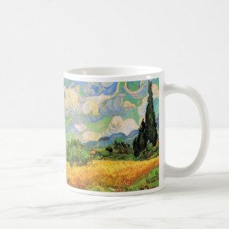 Van Gogh Wheat Field w Cypresses at Haute Galline Coffee Mug