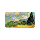 Van Gogh Wheat Field w Cypresses at Haute Galline Personalized Address Labels