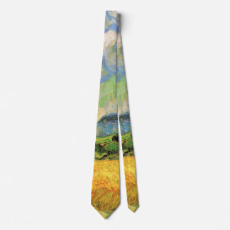 Van Gogh Wheat Field w Cypresses at Haute Galline Neck Tie