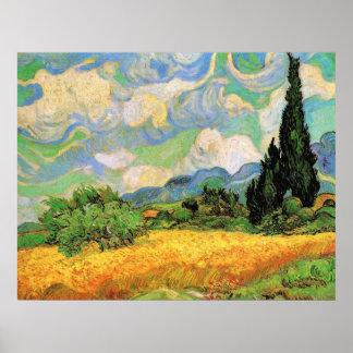Van Gogh Wheat Field w Cypresses at Haute Galline Print
