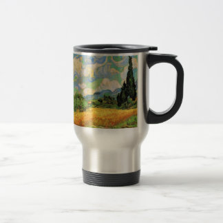 Van Gogh Wheat Field w Cypresses at Haute Galline Travel Mug