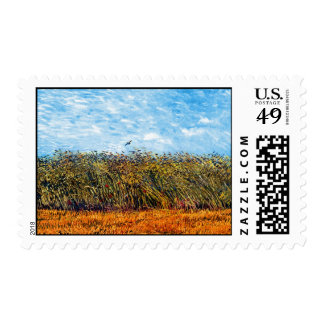Van Gogh - Wheat Field With A Lark Postage
