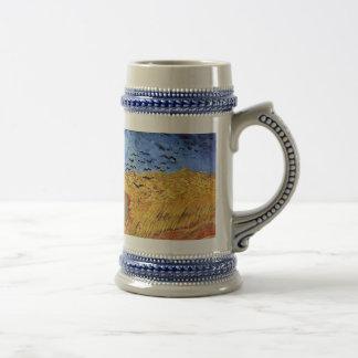 Van Gogh - Wheat Field with Black Crows 18 Oz Beer Stein