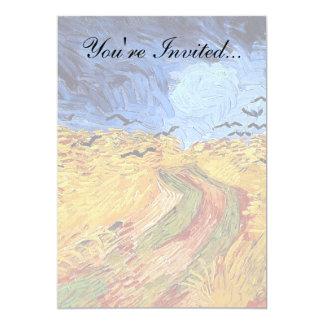 "Van Gogh - Wheat Field with Black Crows 5"" X 7"" Invitation Card"