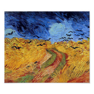 Van Gogh - Wheat Field with Black Crows Poster