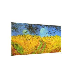 Van Gogh Wheat Field with Crows, Vintage Fine Art Canvas Print