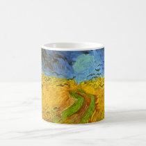 Van Gogh Wheat Field with Crows, Vintage Fine Art Coffee Mug