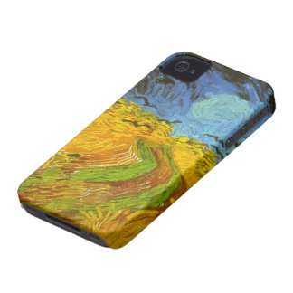 Van Gogh Wheat Field with Crows, Vintage Fine Art iPhone 4 Cover