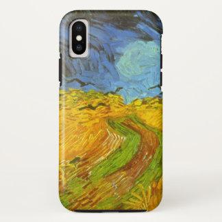 Van Gogh Wheat Field with Crows, Vintage Fine Art iPhone X Case