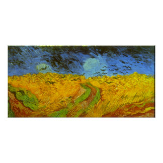 Van Gogh Wheat Field with Crows, Vintage Fine Art Poster