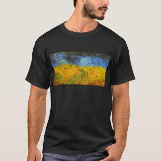 Van Gogh Wheat Field with Crows, Vintage Fine Art T-Shirt