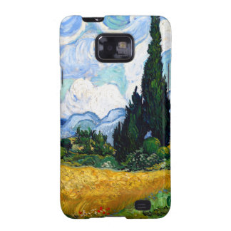 Van Gogh Wheat Field with Cypresses Samsung Galaxy S2 Cases