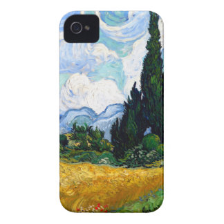 Van Gogh Wheat Field with Cypresses iPhone 4 Cases