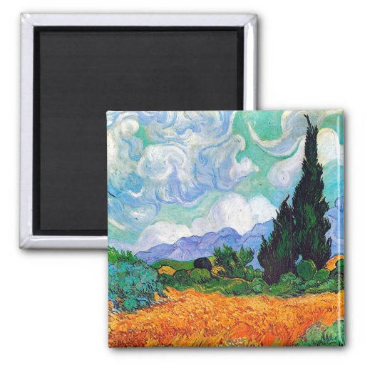 Van Gogh Wheat Field with Cypresses (F615) Refrigerator Magnet