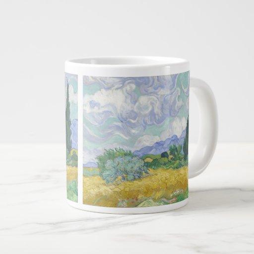 Van Gogh Wheat Field with Cypresses (F615) Extra Large Mug