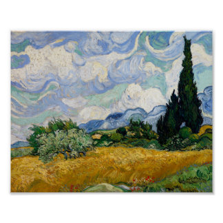 Van Gogh Wheat Field With Cypresses Fine Art Poster