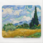 Van Gogh Wheat Field with Cypresses Mouse Pad