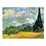Van Gogh - Wheat Field with Cypresses Postcard