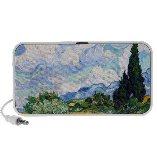Van Gogh Wheat Field with Cypresses Notebook Speakers