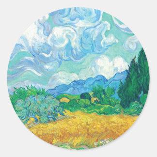 Van Gogh- Wheat Field with Cypresses Sticker