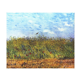 Van Gogh: Wheat Field with Poppies and Lark Canvas Prints