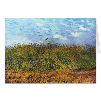 Van Gogh: Wheat Field with Poppies and Lark Card
