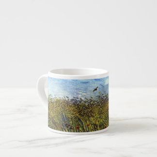Van Gogh: Wheat Field with Poppies and Lark Espresso Cup