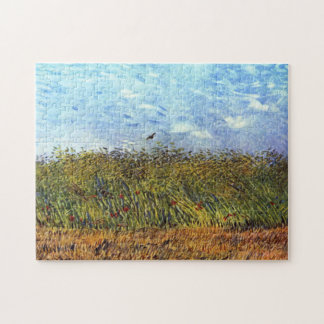 Van Gogh: Wheat Field with Poppies and Lark Jigsaw Puzzle