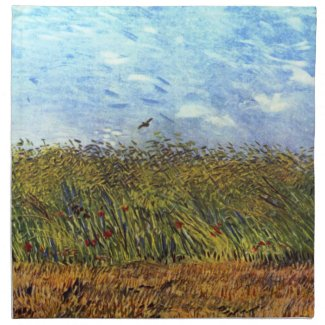 Vincent van Gogh: Wheat Field with Poppies and Lark