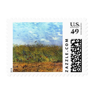 Van Gogh: Wheat Field with Poppies and Lark Postage