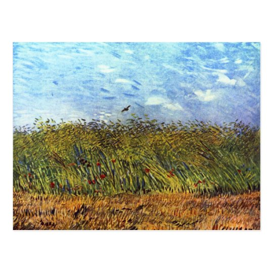 Van Gogh: Wheat Field with Poppies and Lark Postcard