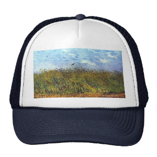 Van Gogh: Wheat Field with Poppies and Lark Trucker Hat
