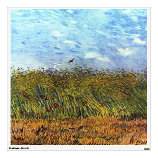 Van Gogh: Wheat Field with Poppies and Lark Wall Graphic