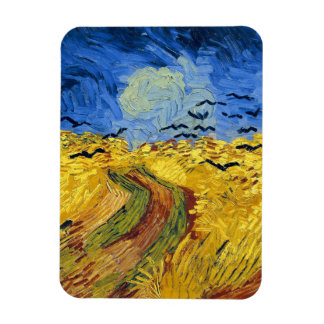 Van gogh wheat fields famous painting magnet