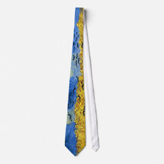 Van gogh wheat fields famous painting tie