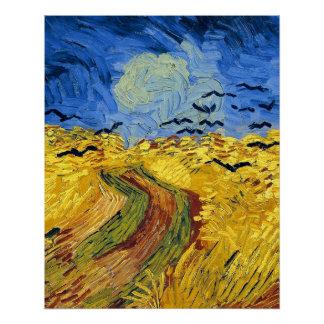 Van gogh wheat fields painting poster
